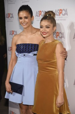 Sarah Hyland and Nina Dobrev attend the ASPCA Los Angeles Benefit in Los Angeles, California
