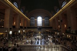 Grand Central Station Terminal after Hurricane Irene in New York City