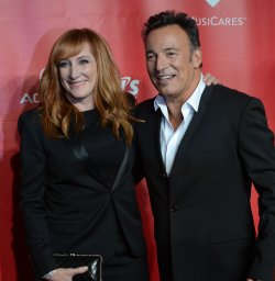 Bruce Springsteen and Patti Scialfa arrive at 2013 MusiCares Person of the Year gala in Los Angeles