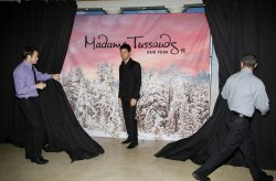 Taylor Lautner wax figure in New York