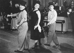 Margaret Truman performs in the Jimmy Durante show