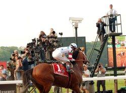 Big Brown loses triple crown bid at Belmont Race track in New York