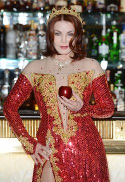 "Priscilla Presley attends the press launch for ""Snow White And The Seven Dwarfs"""" in London"