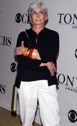Twyla Tharp arrives for the 2010 Tony Awards Meet the Nominees Press Reception in New York