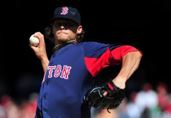 Boston Red Sox pitcher Clay Buchholz pitches in Washington