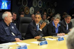 Obama Briefed by FEMA on Cleanup Efforts from Hurricane Sandy