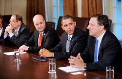 President Obama Attends the U.S.-European Union Summit