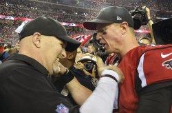 Falcons coach Quinn, QB Ryan celebrate NFC Championship win