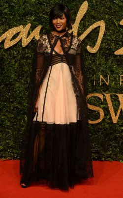 Naomie Campbell attends the British Fashion Awards in London