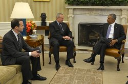 President Obama and VP Biden hold talks with envoys to ISIS coalition in Washington