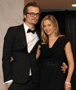 Christopher Backus and Mira Sorvino arrive for White House Correspondent's Assoc. in Washington DC