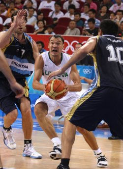 Olympic Basketball Argentina vs. Lithuania in Beijing