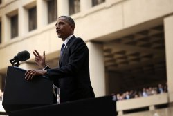 Obama Speaks At Installation Of James Comey As Director Of FBI