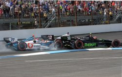 Simon Pagenaud wins the inaugural Grand Prix of Indianapolis at the Indianapolis Motor Speedway