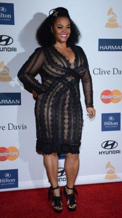 Jill Scott attends the Clive Davis pre-Grammy party in Beverly Hills, California
