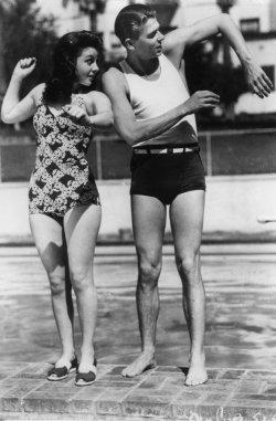 "Ronald Reagan and Susan Hayward in ""Girls on Probation"""
