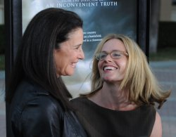 """Mimi Rogers and Elisabeth Shue attend the """"Waiting for Superman"""" premiere in Los Angeles"""