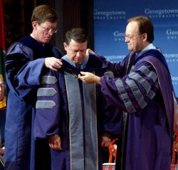 KING ABDULLAH OF JORDAN RECEIVES HONRARY DOCTORATE FROM GEORGETOWN