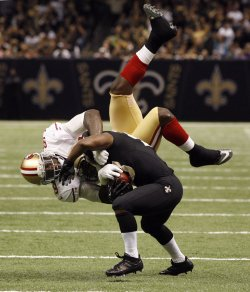 New Orleans Saints vs San Francisco 49ers at the Mercedes-Benz Superdome in New Orleans