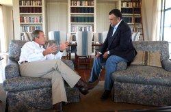 President Bush meets with Saudi ambassador Prince Bandar bin Sultan