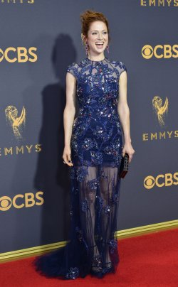 Ellie Kemper attends the 69th annual Primetime Emmy Awards in Los Angeles