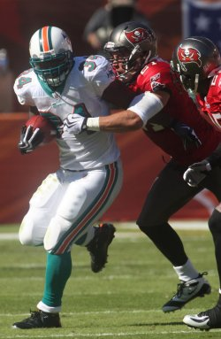 Tampa Bay Buccaneers at Miami Dolphins. NFL divisional game at Landshark Stadium in Miami.