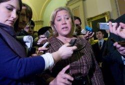 Sen. Mary Landrieu (D-LA) arrives for a Democratic Caucus meeting in Washington
