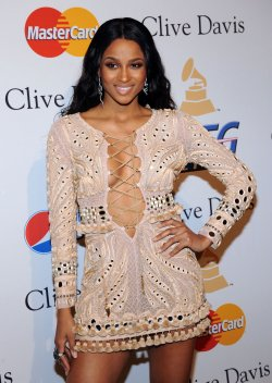 Ciara arrives at pre-Grammy gala honoring David Geffen in Beverly Hills, California