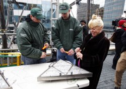 Waterford Crystal ball prepared for New Years Eve in New York