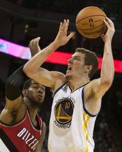 Golden State Warriors vs Portland Trailblazers in Oakland, California