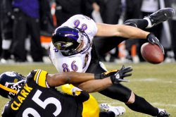 Steelers Clark Breaks up Pass to Ravens Heap in Pittsburgh