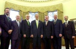 Bush meets leaders of Ireland, Northern Ireland