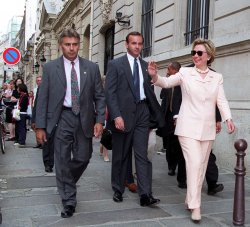 First Lady Hillary Rodham Clinton in Paris