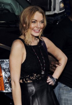 Lindsay Lohan at the David Letterman Show