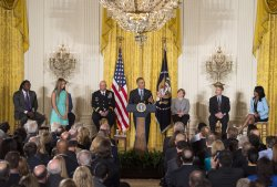 President Barack Obama speak on Concussions at the White House in Washington