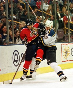 St. Louis Blues vs Flordia Panthers hockey