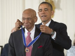 President Barack Obama awards the Presidential Medal of Freedom in Washington