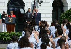 Barack Obama and Bill Clinton Celebrate 20 years of AmeriCorps
