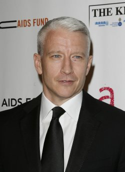 "Anderson Cooper arrives at "" An Enduring Vision"" Elton John Aids Foundation Benefit at Cipriani in New York"