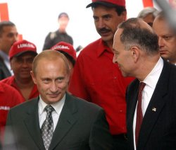 PRESIDENT PUTIN TOURS NEW YORK BASED RUSSIAN GAS STATION