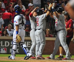 Pujols homers in sixth at game 3 of the World Series in Texas