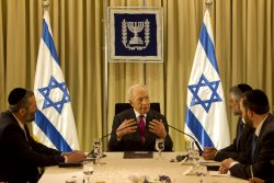 Shimon Peres and Israel form new government