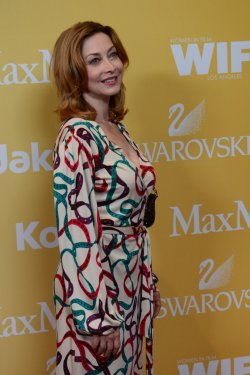 Sharon Lawrence attends the Women in Film Crystal + Lucy Awards in Beverly Hills, California