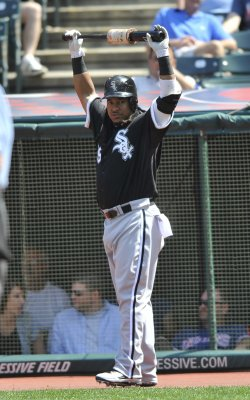 Manny Ramirez Of White Sox Stands On Deck In Seventh Inning