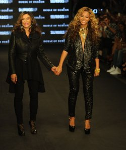 "Beyonce and Tina Knowles attend ""House Of Derion"" catwalk show"