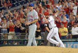 Nationals' baseman Daniel Murphy hits a home run in Washington