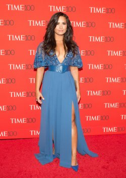 Demi Lovato arrives at the TIME 100 Gala in New York