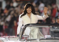 Marie Osmond rides in the Hollywood Christmas Parade in Los Angeles