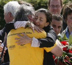 Ingrid Betancourt arrives in France