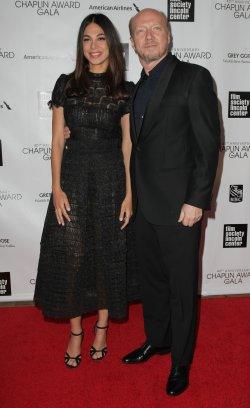 Miran Tias and Paul Haggis attend the 40th Annual Chaplin Award Gala in New York